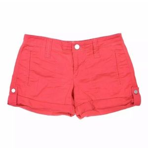 GUESS COTTON SHORTS RED GOLD BUTTON SUMMER SHORT